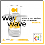 Logo wir machen Wellen... way2wave