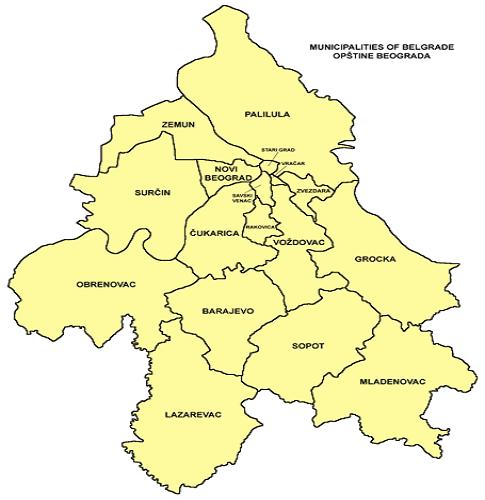 Freiburg Karte Stadtteile.Hauptstadt Belgrad Bezirke Stadtteile Karte Info
