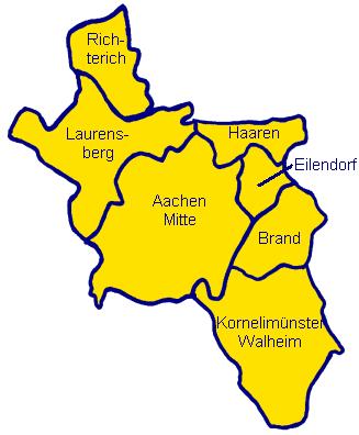 Aachen Karte Stadtteile.Flyer Verteilen Aachen Bezirke Und Stadtteile Ortsteile