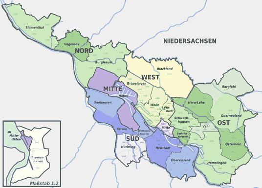 Bundesland Bremen Karte.Plz Bremen Karte Hanzeontwerpfabriek