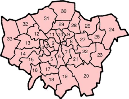 Karte London Stadtteile.London Hauptstadt Bezirke Stadtteile Karte Info