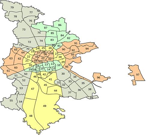 Freiburg Karte Stadtteile.Nürnberg Stadtteile Bezirke Karte Plz Einwohner