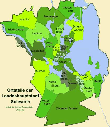 Stadtteile Schwerin