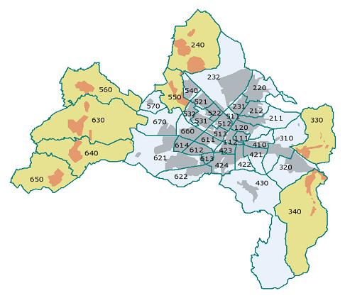 Freiburg Karte.Stadt Freiburg Stadtteile Plz Einwohnerzahl Karte